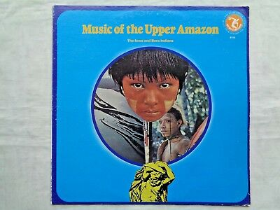 Music Of The Upper Amazon The Iawa   Bora Indians 1980 Olympic 6116 Pressing Nm