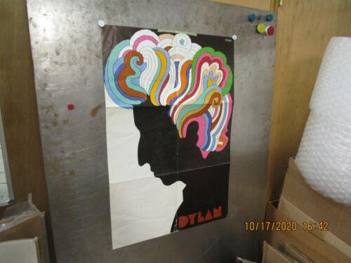 BOB DYLAN Psychedelic Poster Milton Glaser 1967 Pre-Owned See Description