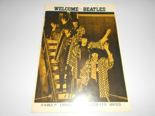 BEATLES in Japan 1966 FLYER THE BEATLES Japanese Tour An Original John Lennon