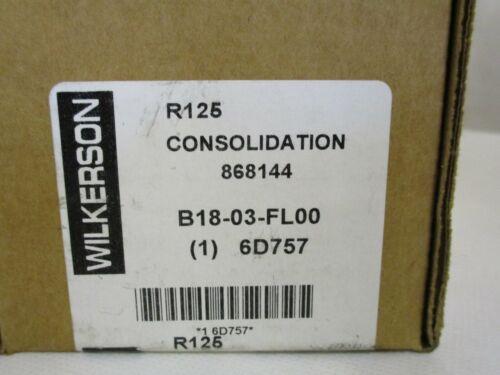 "NEW WILKERSON B18-03-FL00 FILTER REGULATOR 3/8""  5 MICRON  125PSI"
