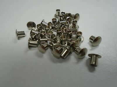 100 Pcs 332 X 516 Nickel Plated Fasteners Oval Head Semi Tubular Rivets