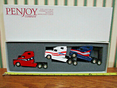 Penjoy Collector's Club Freightliner Semi Trio Set 1/64th Scale