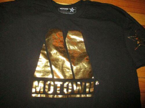 Black MOTOWN 50th Anniversary Gold Logo T Shirt XL DETROIT