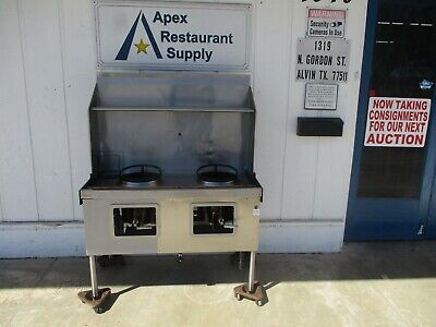 Commercial 48w Nat. Gas 2 Jet Burners Chinese Style Wok Stove 5649