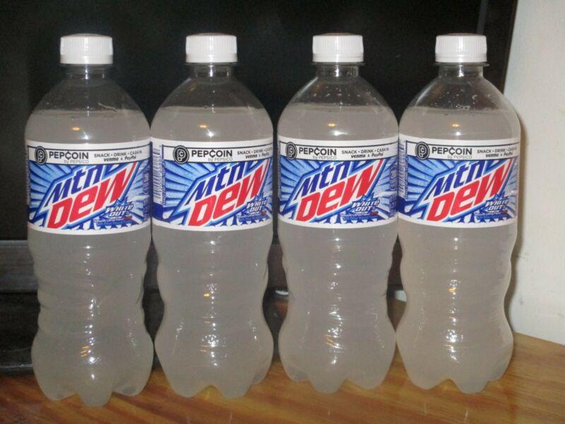 Mountain Dew White Out 4x Full 20 Oz Bottles Brand New