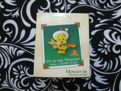 """2002 CHRISTMAS! MINIATURE ORNAMENT TWEETY LOONEY T. """"UP TO THE TWEETOP!"""" T3105"""