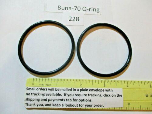 "228 O-ring 2-1/4"" ID x 2-1/2"" OD x 1/8"" thick. Buna-70.   Quan 2."