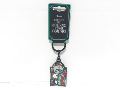 Jack & Sally Stained Glass The Nightmare Before Christmas Keychain Disney