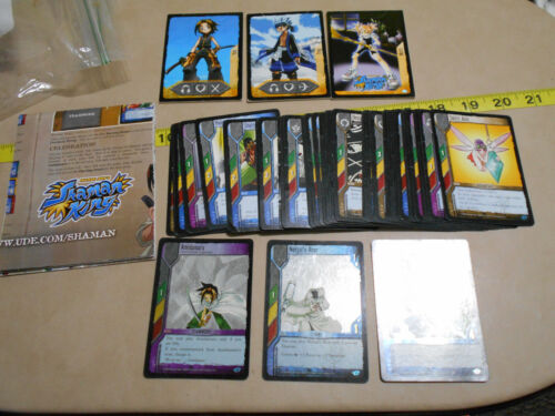 Shaman King Card Collection w/ Rare Holograph Foils and 3 Pullout Opening attack
