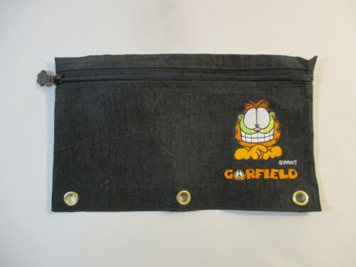 Vtg. Garfield The Cat 3-Ring Notebook Zippered Pencil Holder PAWS