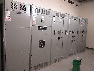 Siemens 3000 Amp, 2500A Main Breaker 416Y/240 Volt 5 Section