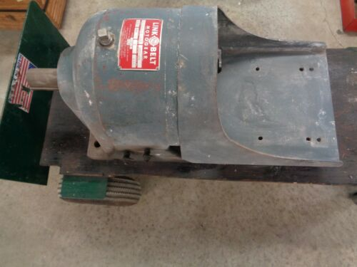 """Link Belt gear speed reducer Size BDB1-55 Ratio 9.3 """"Used"""" 5 hp (See pictures)"""