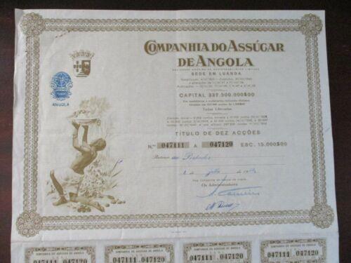 Title of shares the Company sugar Angola Portugal 1959