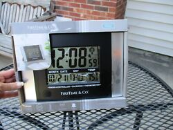 Digital LCD Atomic Large Desk Wall Clock Date Temperature Radio Controlled Alarm