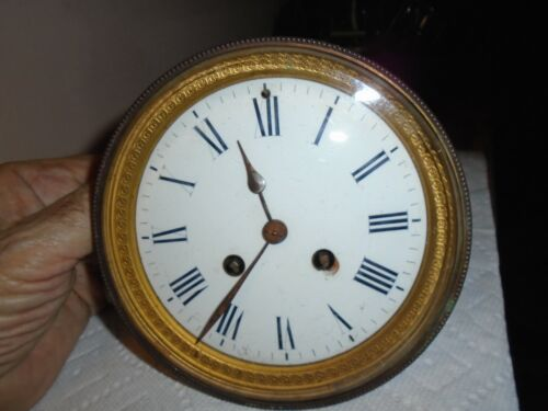Antique-French-Clock Movement-Ca.1885-To Restore-#E101