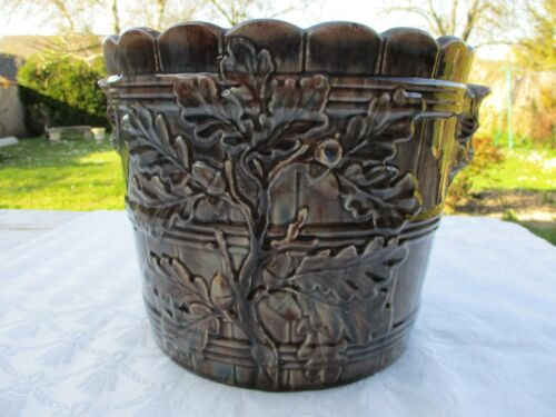 FIVES LILLE ANTIQUE FRENCH MAJOLICA PLANTER FLOWER POT JARDINIERE 1900