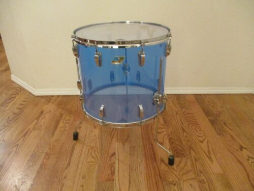 Vintage Ludwig Vistalite 18 X 16 Floor Tom, Blue, Early 1970s - PRICE REDUCED!