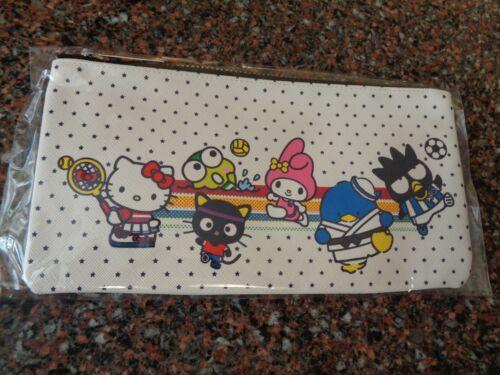 """Sanrio Hello Kitty & Friends Pencil Pouch Bag Case Zipper 8.75"""" x 4.75"""" NWT"""