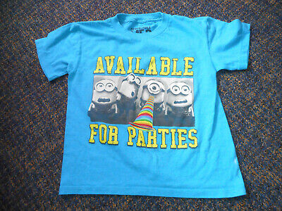 BOYS DISPICABLE ME 2 rSHORT SLEEVE MINION SHIRT SIZE XS