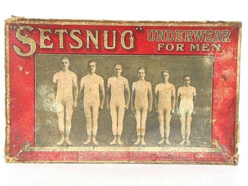 RARE vintage SETSNUG UNDERWEAR FOR MEN advertising sign 1913 AVALON UTICA N.Y.