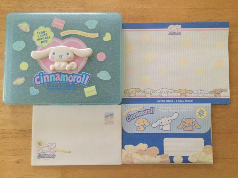Sanrio Cinnamoroll letter set plastic case stationery vintage 2004 rare kawaii