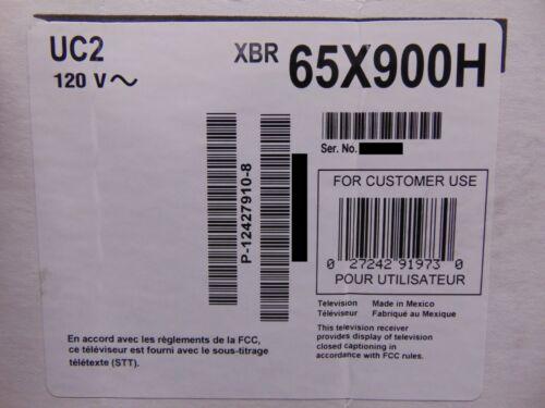 "Sony XBR-65X900H 65"" Class HDR 4K UHD Smart LED TV - XBR65X900H"