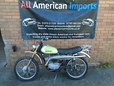 SUZUKI TS90 MOTORBIKE(1972) FRESH US IMPORT! GREAT PROJECT BASE! RARE! NO RES!