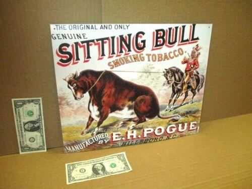 SITTING BULL TOBACCO -Big Sign - Native American - Indian Chief - HILLSBORO N.C.