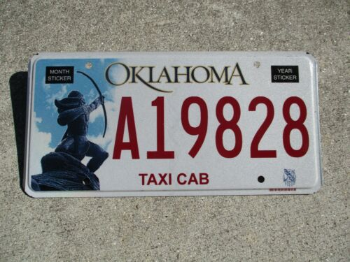 Oklahoma Taxi Cab license plate #  A 19828