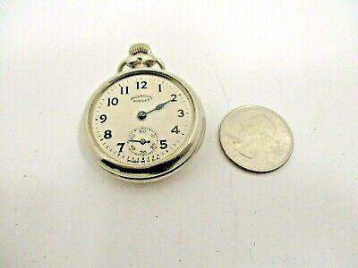 Vintage Ingersoll Midget Pocket Watch Repair or Parts