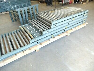 33 Of Hytrol Gravity Roller Conveyor Sections With Legs