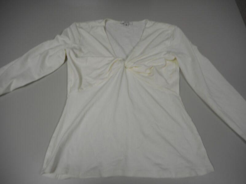 Women's Cache 3/4 Sleeve Top Shirt Blouse Rayon Cream