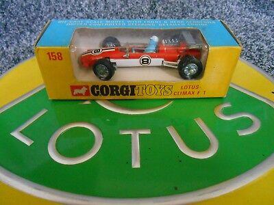 Corgi 158 Lotus Climax F1 49 49B Mint Window Box Exceptional Hill Rindt Siffert