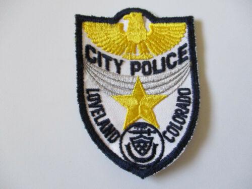 vintage 1970s Loveland Colorado White Twill Police Patch