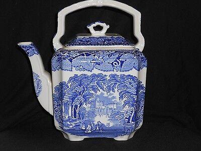 Vintage Masons Blue Vista Larger Sized Teapot