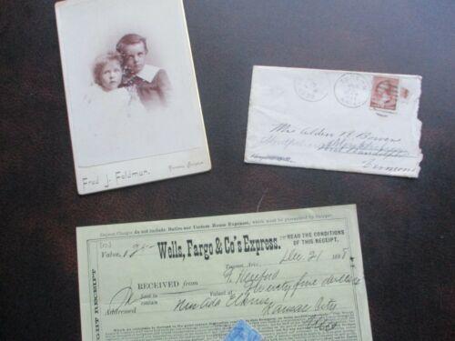1884-1905 Tucson,Arizona Wells Fargo,Cabinet Card,Cover,Mining letterheads lot!!