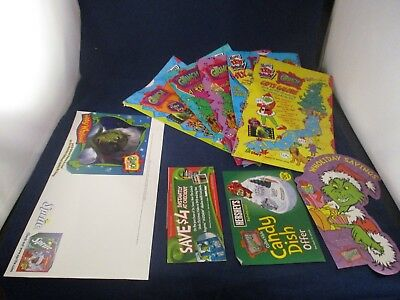 Dr. Seuss' How the Grinch Stole Christmas Sprite Store Display & Wendy's Bags