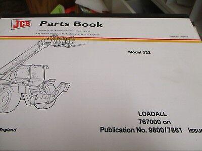 Jcb 532 Loadall Parts Book Manual