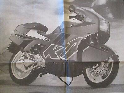 VIEILLE PUBLICITÉ MOTO SUR LA NOUVELLE BMW K1 - 01/07/1989 -