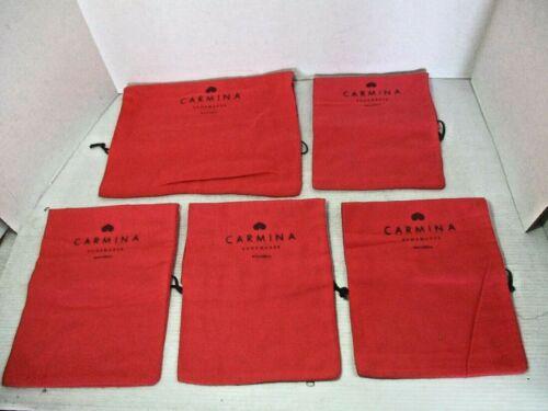 5 Shoe / Purse DUST BAGS - CARMINA Shoemaker Mallorca  Red Orange / Brown Print