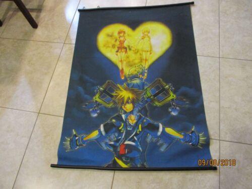 "RARE Anime ? Manga Fabric canvas ? silk poster 31"" x 42"" KINGDOM OF HEARTS ?"