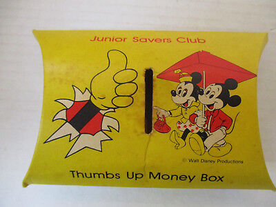 Abbey National Building Society Junior Savers Club Money Box Mickey Mouse 1978