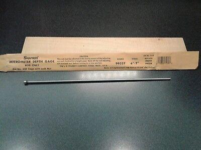 Starrett Micrometer Depth Gage Rod Only 6-7 99337