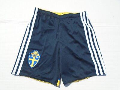 e84196f1f9abdd Adidas Kinder Sporthose Trainingshose Freizeit Hose kurz blau 128 140 152  164