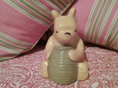 """Disney Classic Pooh """"Pooh with Honey Pot"""" with bow by Michel & Company"""