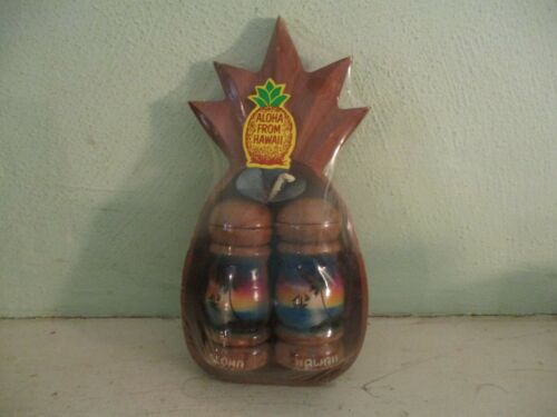 Hawaii souvenir salt and pepper shakers and serving dish - made in Philippines