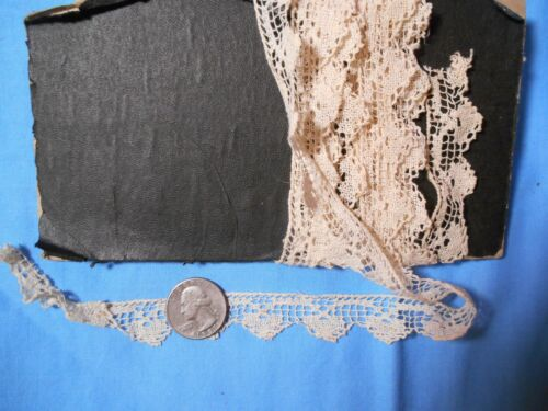 "Lovely Antique/Vintage handmade  cotton  lace trim edging  3/4"" x 103"""