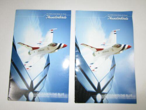 2 USAF 2004 Thunderbirds Air Show Program 15 Autographs Pilots Officers Enlisted