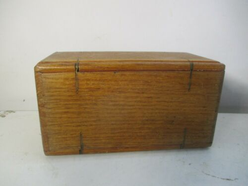 VINTAGE Sewing Machine AccessorY OaK foLding WOOD PUZZLE BOX ESTATE FIND