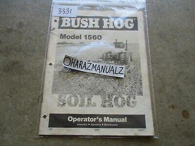Bush Hog Model 1560 Soil Hog Operators Manual